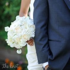 Timeless and elegant...an all white bridal bouquet.