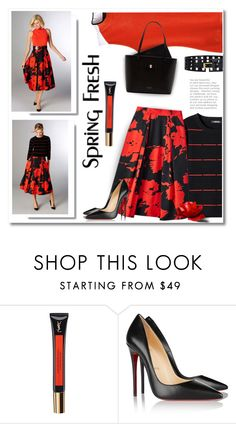 """A Lady In Spring"" by passion-fashion-2 ❤ liked on Polyvore featuring Per Se, Yves Saint Laurent, Christian Louboutin, Ted Baker, women's clothing, women, female, woman, misses and juniors"