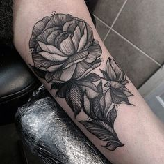 tattoo woodcut rose - Google Search