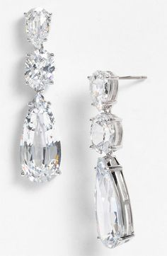 Nadri Cubic Zirconia Linear Earrings (Nordstrom Exclusive) available at #Nordstrom
