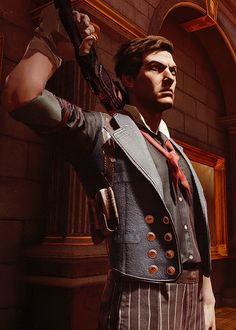Booker DeWitt from Bioshock Infinite. He's a hottie, js.