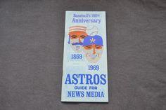 1969 Houston Astros Media Guide-100th Anniversary