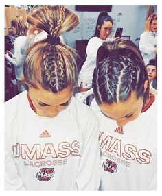 Softball Hairstyles, Athletic Hairstyles, Gym Hairstyles, Headband Hairstyles, Cute Sporty Hairstyles, Hairstyles Videos, Casual Hairstyles, Cute Braided Hairstyles, Retro Hairstyles