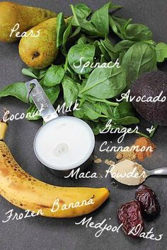 Monster Pear Green Smoothie // In need of a detox? Get your teatox on with 10% off using our discount code 'PINTEREST10' at www.skinnymetea.com
