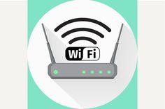 Wi fi wireless router web icon