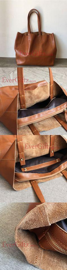 Genuine Leather vintage handmade shoulder bag cross body bag handbag tote shopper bag purse