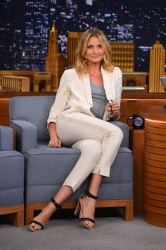 Cameron Diaz visits 'The Tonight Show Starring Jimmy Fallon' at Rockefeller Center on July 15, 2014 in New York City.