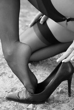 Graceful feet.