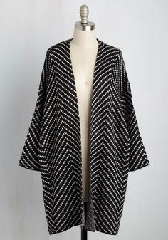 Come and Sashimi Cardigan. Invite your bestie along to your favorite sushi spot in this black sweater! #black #modcloth