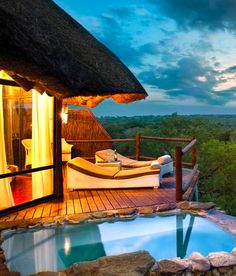 Luxury lodging in Kruger National Park, South Africa