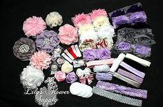Hair Accessories 18786: Baby Shower Headband Kit - Deluxe Diy Hair-Bow And Headband Kit -> BUY IT NOW ONLY: $37.99 on eBay!