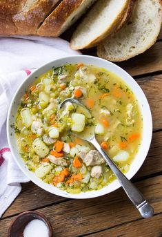 Cozy Chicken Split Pea Soup - Little Broken #splitpeas #Splitpeasoup #Splitpeas #Soup #cook #recipes #salad #saladrecipes Cooking Chicken To Shred, How To Cook Chicken, Green Split Peas, Green Peas, Split Pea Soup Recipe, Chicken Stroganoff, Traditional Lasagna, Veggie Chili, Celery Rib