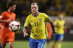 John Guidetti of Sweden during the FIFA World Cup Qualifier between Sweden and Netherlands at Friends arena on September 6, 2016 in Solna, Sweden.