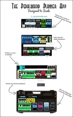 Our scaled interactive pedalboard planner for guitar players. Plan before you buy. Guitar Tips, Guitar Songs, Guitar Chords, Guitar Lessons, Guitar Quotes, Guitar Effects Pedals, Guitar Pedals, Organizer Planner, Music