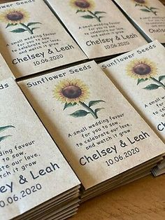 Wedding Gifts For Guests, Gifts For Wedding Party, Fall Wedding, Best Wedding Favors, Wedding Favours Seeds, Rustic Wedding Theme, Wedding Table Themes, Dream Wedding, Personalised Wedding Favours