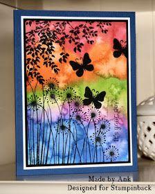 (1)Watercolor: wet-on-wet technique (bleeding colors) +salt for background effect. (2) effective silhouette