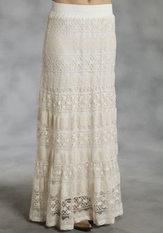 3-Tiered Allover Lace : Women's Western Skirt I want one like this