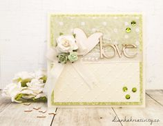 Dianka Kreativity: WEDDING CARD - Svatební v zelené