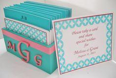 Wedding Guest Book Box Set w/Anagrama por MichelleWorldesigns, $81.00