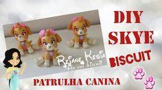 Diy Patrulha canina biscuit - Skye - Rejane Kesia