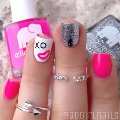 ig@badgirlnails ...love the nails & the rings too!