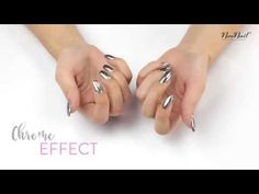 Chrome Effect by NeoNail Manicure, Nails, Chrome, Wedding Rings, Engagement Rings, Youtube, Beauty, Jewelry, Nail Bar