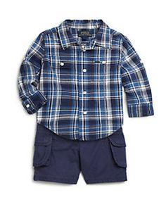 Ralph Lauren - Infant's Two-Piece Plaid Shirt & Cargo Shorts Set/12-24 mo.