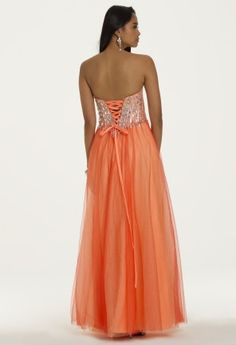 Grecian Two Tone Tulle Prom Dress from Camille La Vie and Group USA