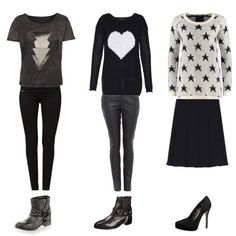 Grey and black <3 #fashion #mode #style