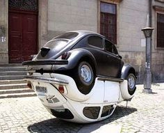 The monument to Volkswagen Beetle is in Rio de Janeiro, Brazil. Production of Volkswagen Beetle in Brazil ended in then restarted in 1993 and continued until The monument combines two Volkswagen Beetle cars. Weird Cars, Cool Cars, Strange Cars, Crazy Cars, Carros Vw, Auto Volkswagen, Volkswagen Thing, Art Public, Kdf Wagen