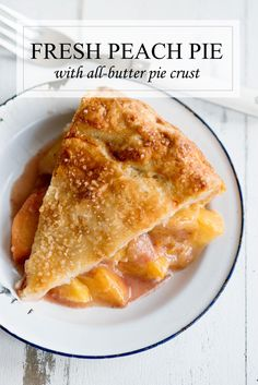 Nothing says summer like a fresh peach pie with all butter pie crust. This recipe is for the best pie you'll ever eat! Pie Crust Recipes, Tart Recipes, Best Dessert Recipes, Easy Desserts, Delicious Desserts, Cooking Recipes, Pie Crusts, Sweet Pie Crust Recipe, Cooking Fish