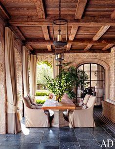 Gisele Bündchen's Green-Living Tips : Architectural Digest House Design, Dining Room Design, Outdoor Dining Room, Outdoor Rooms, French Country Dining Room Decor, French Country Dining, Country Dining Rooms, Home, Country Living Room Design