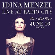 The stunning @Idina Menzel wearing DD Chain Wrapped Earrings. Would love to be at this concert. #deandavidson #idinamenzel #nyc #radiocity