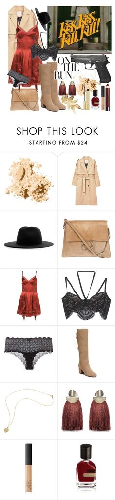"""She's a Killer"" by batbekka12 ❤ liked on Polyvore featuring Bobbi Brown Cosmetics, MANGO, Études, For Love & Lemons, Cosabella, Aerosoles, Lizzie Fortunato, Wet n Wild, NARS Cosmetics and Orto Parisi"