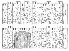 Muren van Jericho om te printen // Jericho Walls picture to print