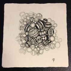 Zentangle with Shades of Gray and Tangle Jetties by Lucy Banta