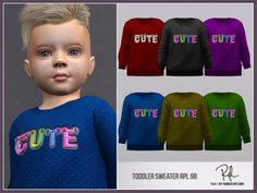 :: 6 swatches Found in TSR Category 'Sims 4 Male Toddler'