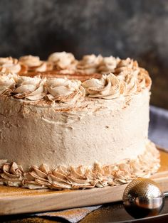 Cinnamon Roll Layer Cake...a buttery cinnamon cake layered with cinnamon glaze and cinnamon buttercream...EAT CAKE FOR BREAKFAST!