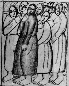 Peasant Women in a Church - Kazimir Malevich