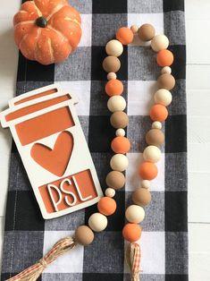 Wood Bead Garland, Tassel Garland, Garlands, Wooden Pumpkins, Wooden Beads, Wooden Signs, Pumpkin Spice, Halloween Decorations, Fall Decor