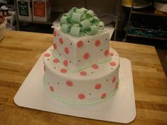 Cakes » Two Tiered Polka Dot Cake