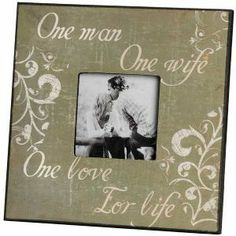 Wooden Message Plaques Signs - 10140 - One Man One Love Photo Frame