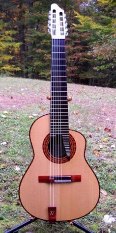 Handcrafted Classical 8 String/Extended fngbrd. Sndbd; Sitka Spruce Back & Ribs; Ambrosia Maple Neck; Honduran