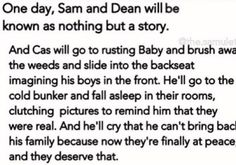 No Cas Will never let Dean reast in peace for the simples fact that CAS is Family And Dean And Sam would never let him behind
