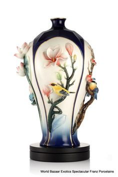 FZ03104 Franz Porcelain Four Seasons Flowers and Bird 988 New Special Order | eBay