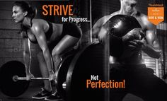 #Strive for #Progress not #Perfection  When it comes to losing weight or getting in shape most of us cringe in agony. For me if I don't go to the gym and work out I am a different person; disfocused tired & less patient.  Does that ever happen to you?  I have coached A LOT of people on my strategies for staying fit. It truly starts with your mind. Not your time or your body it's what you are saying to yourself or thinking that is defeating you before you get the ball rolling.  So the first…