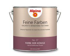 """Alpina Feine Farben """"Farbe der Könige"""":  Ein exquisiter Purpur-Ton mit prachtvoller Aura. Seinen kostbaren und herrschaftlichen Stil pflegt er mit majestätischer Hingabe."""