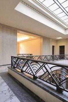Villa Empain — MA² - Metzger et Associés Architecture Balcony Grill Design, Balcony Railing Design, Window Grill Design, Door Design, House Design, Glass Balcony Railing, Balcony Planters, Steel Railing Design, Staircase Railing Design