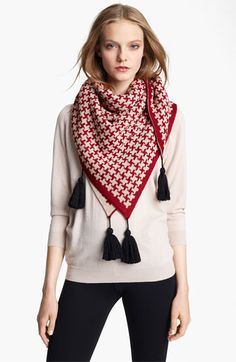 Sonia Rykiel Square Wool Shawl available at Nordstrom Lightweight Scarf, Sonia Rykiel, Shawls And Wraps, Sewing Clothes, Womens Scarves, Plaid Scarf, Scarf Wrap, Red And Blue, Nordstrom