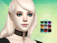 Aveira's Sims 4, Vampire Eyes #1 Vampires only 9 Colors 2 Options:...